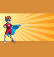 little super boy ray light background vector image vector image