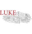 luke word cloud concept vector image vector image