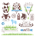 Milk labels badges and banners vector image vector image