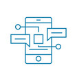 mobile messengers linear icon concept mobile vector image