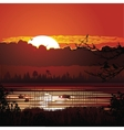 Nature sunset background vector image vector image
