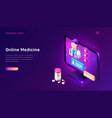 online medicine isometric concept telemedicine vector image