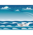 Paper Boat in the Sea4 vector image