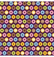 Pixel art style donuts colorful seamless vector image