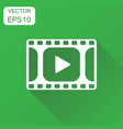 play icon business concept play video pictogram vector image vector image