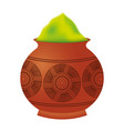 powder color mud pot and mandala vector image
