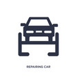 repairing car icon on white background simple vector image vector image