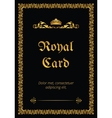 Royal card vector image