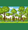 rual summer landscape with trees and stones vector image vector image