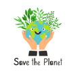 save planet banner vector image vector image