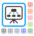scheme demonstration screen framed icon vector image vector image