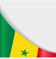 senegalese flag background vector image vector image