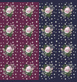 set of seamless flower pattern vector image