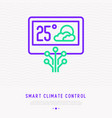 smart climate control thin line icon vector image