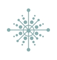 snowflake decoration isolated icon vector image