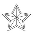 stars award symbol isolated black and white vector image vector image