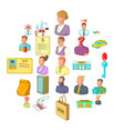 success icons set cartoon style vector image