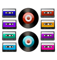 Tap cassette vector image vector image