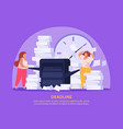 tired women background vector image