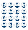 user account avatar portrait icon set vector image