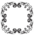 vintage baroque frame engraving scroll ornament vector image vector image