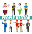 young people with various characters vector image vector image