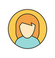 young woman private avatar icon vector image