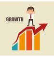 leadership businessman growth arrow financial vector image