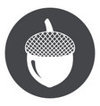 acorn icon silhouette acorn vector image vector image
