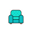 armchair flat icon sign symbol vector image vector image