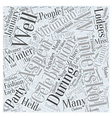 aspen nightlife winterskol Word Cloud Concept vector image vector image