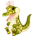 baby girl crocodile vector image