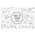 back to school set of icons line style education vector image vector image