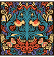 Beautiful colored floral pattern with owl vector image