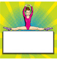beautiful gymnast sports summer games pop art vector image
