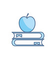 books apple school education learning line and vector image
