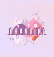 branding isometric word design - letters with vector image