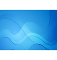 Bright blue abstract wavy design vector image