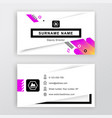 business card white background with logo vector image vector image