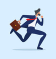 businessman run attractive in a hurry vector image