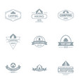camping logo set simple style vector image