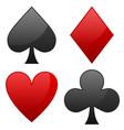 Card suit symbols spade heart diamond and club