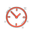 cartoon alarm clock icon in comic style timer vector image vector image