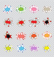 cartoon explosion set vector image