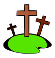 cemetery icon in icon cartoon vector image vector image