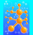chemical molecule structure concept background vector image vector image