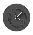 clock icon office clock with long shadow vector image vector image