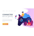 cloud gaming concept vector image vector image