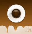 Coffee drop vector image vector image