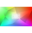colorful rainbow polygon background triangle vector image vector image